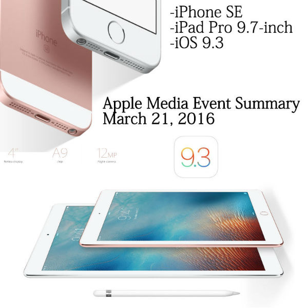 new iPhone SE and iPad Pro